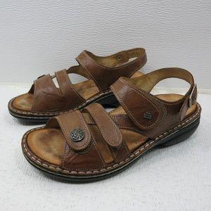 Finn Comfort Full Grain Leather Adjust Sandals 37